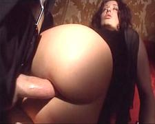 Busty Brunette Anal in Italy