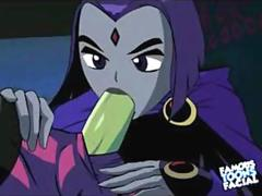 Teen Titans Porn x Raven Double Teamed