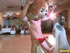 Bear Stripper gets His Dick Sucked at Bachelorette Party