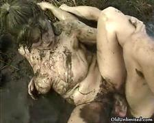 Dirty old  fucking hard in the mud