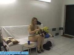 Backstage fun and sexy lapdance by real czech chick