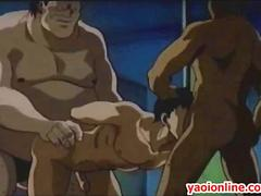 Threesome hentai guys having hard sex