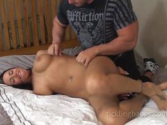 Jasmine Sinclair gets roped for a blowjob
