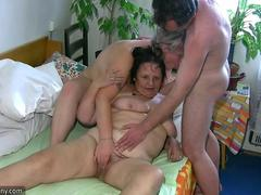 OldNanny Chubby mature and chubby milf is enjoying threesome