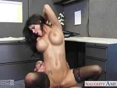 Chesty office babe fucking
