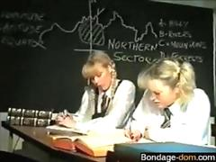 spanking the ass and the teacher brings the discipline