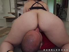 Incredible huge booty face sitting