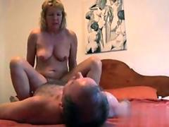 mature couple has a hot fuck like crazy nuts