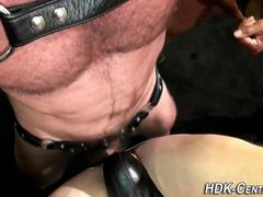 Leather gay raw threeway