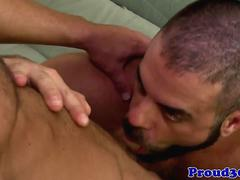 Hunky cleaner cocksucking mature dick