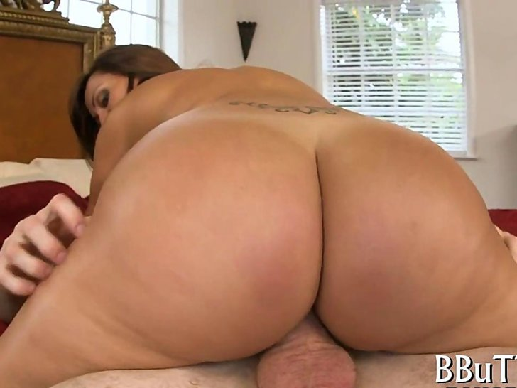 Big Ass Titties Rides Dildo