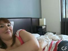 Cute amateur chick gets humped in a homemade tape