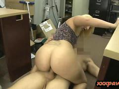 Big butt amateur pounded by pawn keeper at the pawnshop
