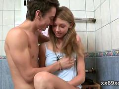 Bf assists with hymen examination and pounding of virgin teen