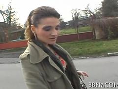 Skinny MILF picked up on the street and fucked hard