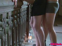 British schoolboys buttfuck in old castle