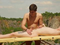 Two Horny Twinks In Outdoor Fuck