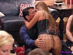 Playboy mansion open house invitation for real couple swinging