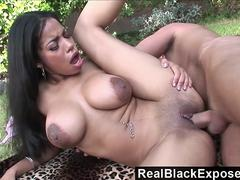 RealBlackExposed  Huge Nipple Havana Ginger Fucks In Public