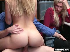Slutty blonde shoplifting girl needs some hard banging