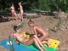Hot picknick girls love fooling around together