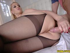 Curvy blonde mom is here to satisfy her stepson