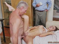 Old young bi threesome and first anal man Molly Earns Her Keep