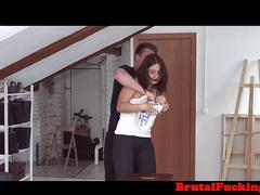 Groped teen hardfucked in ass by stepbro