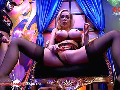 Chessie Kay and Angel Wicky Massive tits and Cum Covered