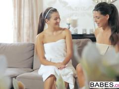 Babes - Step Mom Lessons - Alexa Tomas and Cindy Loarn and George Lee - Spa Day