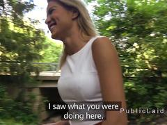 Blonde Serbian fucking in the park