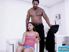 Brunette asian May Thai getting fucked by a bbc