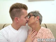 Naughty granny Jessye pounded hard by Jason Storms hard stick