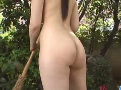 Rie Tachikawa endures big cock in her fat pussy