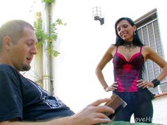 Girlfriends Decide To Fuck Lucky Dude Together