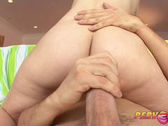 PervCity Brunette Anal Slut Shows Us Her Gape
