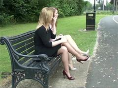 Gorgeous erotic high heel ladies tease feet legs fetish in nylons and stiletto shoes
