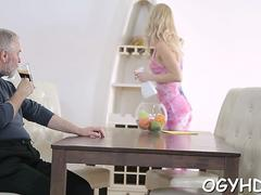 horny  babe screwed by old guy segment feature 1