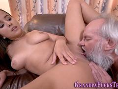 Teen tasted by old guy