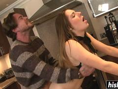 Sexy Samantha likes to bang in the kitchen