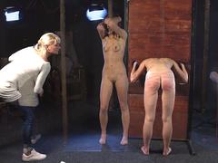 Young girls punished by the cruel Master