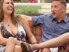 Southern couple is determined to have fun at swingers house