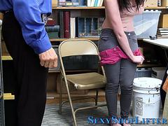 Shoplifting teen plowed