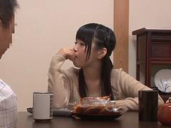 good fuck for teen japanese girl durring dinner feature