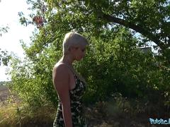 Public Agent Busty crazy MILF in hot sloppy blowjob and public fuck