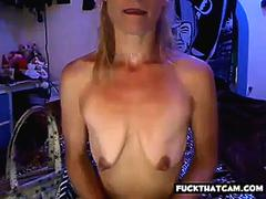 girl with patethic empty saggy tits insults herself part 1