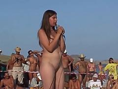 Russian Girl Dance at Nudist Beauty Contest