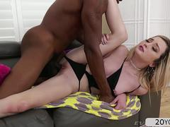 Lexi Lore interracial anal with Isiah