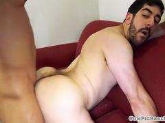 Cocksucking bear plowed on all fours by stud