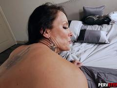 Super hot busty MILF stepmom smashed by a horny stepson